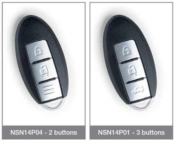 Nissan keyless dálkový ovladač